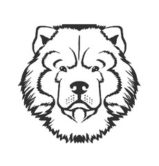 Dog head vector black logo icon illustration