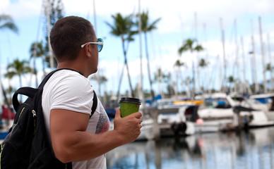 man on travel vacation holidays