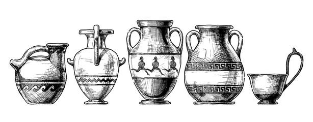 Fototapeta Pottery of ancient Greece. obraz