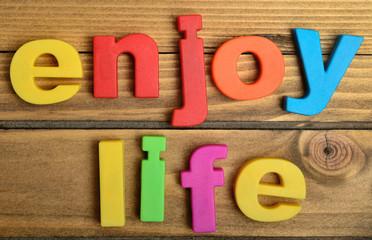 Enjoy life word
