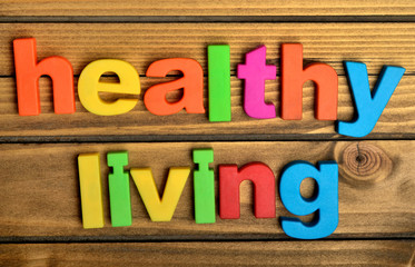 Healthy living word