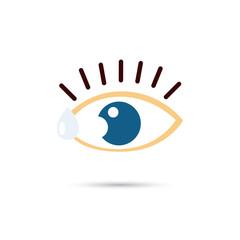 Eye drops color icon