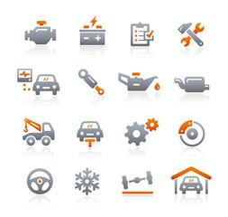Car Service Vector Icons -- Graphite Series