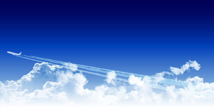 飛行機 ジェット機 空 背景