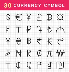 Vector Set Currency Symbols