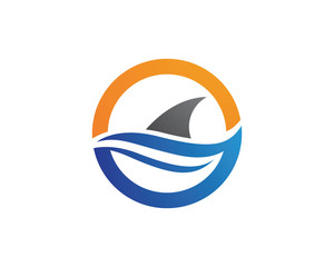 Shark Logo icon template