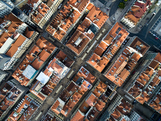 Top View of Lower Town, Lisbon, Portugal