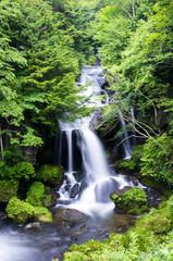 Ryuzu falls at nikko,tochigi,tourism of japan