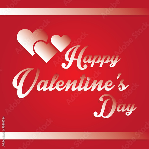 Heart Happy Valentine S Day Letters Design Stock Image And