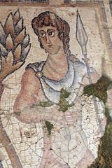Ancient mosaic portait