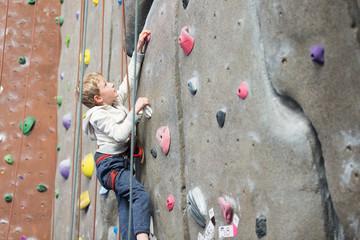 kid rock climbing