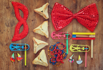 Purim celebration (jewish carnival holiday). selective focus