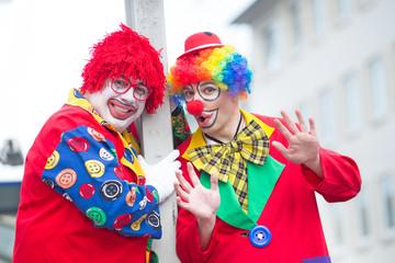 karneval auf der straße feiern