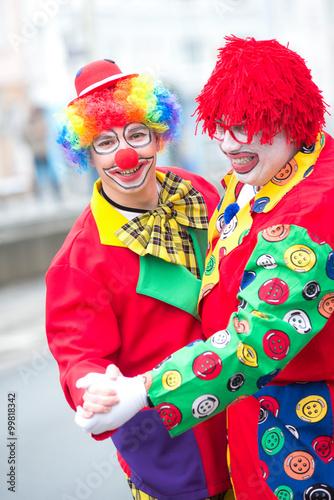 lustige clowns tanzen rosenmontag imagens e fotos de stock royalty free no. Black Bedroom Furniture Sets. Home Design Ideas