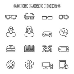 geek line icons