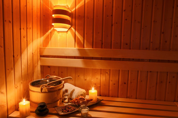Wellness und Spa in der Sauna