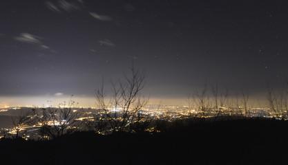 Area metropolitana de Coruña de noche