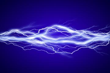 Lightenings effect background in blue sky