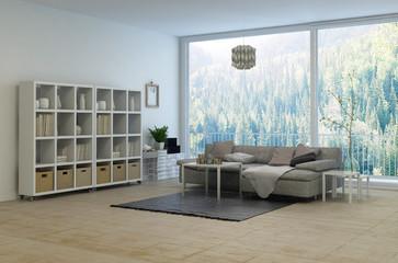 Cozy corner in a modern living room