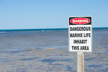 Warning Danger Marine Life