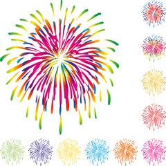 Feuerwerk, Explosion, Hintergrund, Vektor