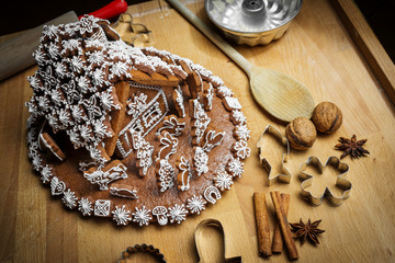 gingerbread house in detail