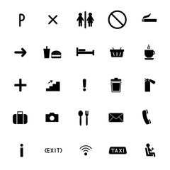 set of vector icons flat line. public sing