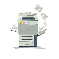 working copier printer - vector