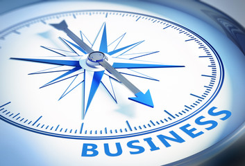 Weißer Kompass - Business