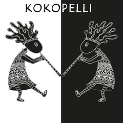 kokopelli - vector ethnic illustration.
