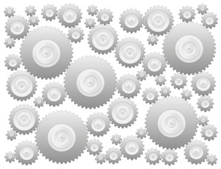 Cogs - gear wheels - isolated vector illustration over white background.