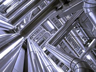 Keuken foto achterwand Industrial geb. Industrial zone, Steel pipelines and cables