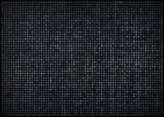 vector illustration - dark gray abstract dotted background