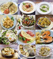 Different homemade dishes