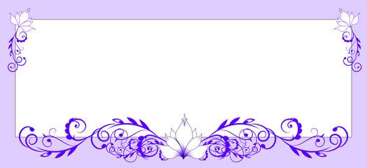 flower frame lily