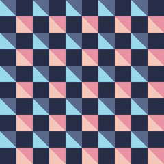 Seamless decorative vector background with abstract geometric pattern