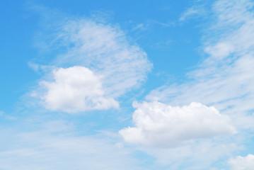 Cloud blue sky .