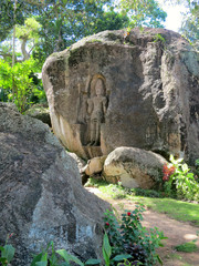 Sculpture of Death, landmark in Wligama, Sri Lanka