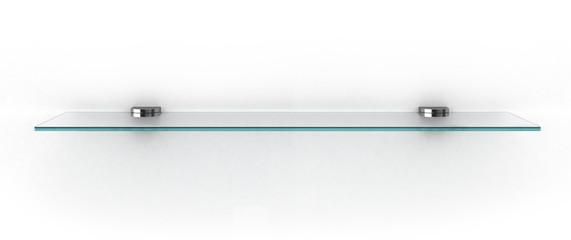 Fototapeta empty glass shelf isolated on white obraz