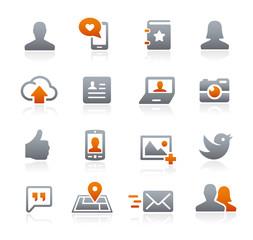 Social Web Icons -- Graphite Series