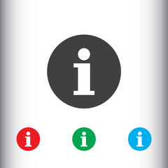 Information icon for web and mobile