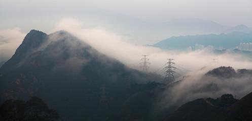 Cityscape of Hong Kong as viewed atop Kowloon Peak