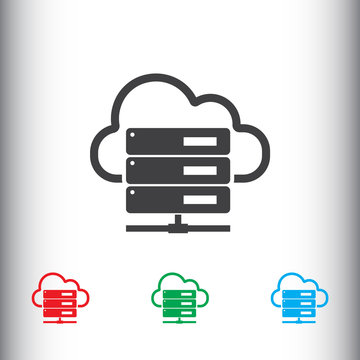 Hosting server icon for web and mobile