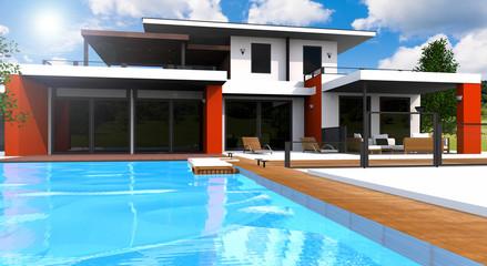 Concept maison d'architecte