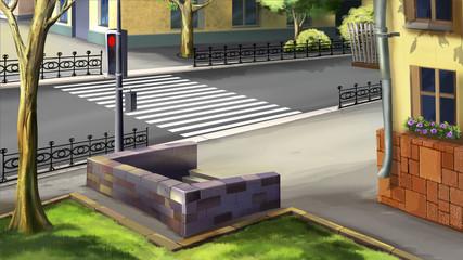 Digital painting of the underground crossing.