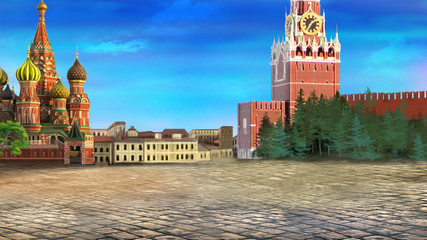 Red square. Moscow Kremlin