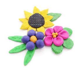 Plasticine flowers.