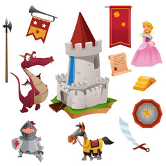 Knight and Dragon Icons