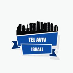 Tel Aviv ribbon banner