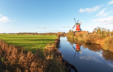 Acrylic Prints Mills Greetsiel, traditional Windmill